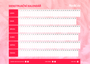 Menstruační kalendář 1 - náhled