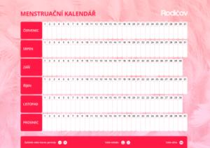 Menstruační kalendář 2 - náhled